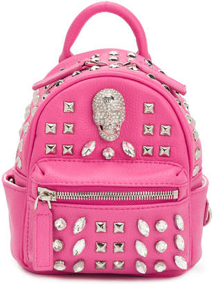 Philipp Plein Shiny Skull mini backpack