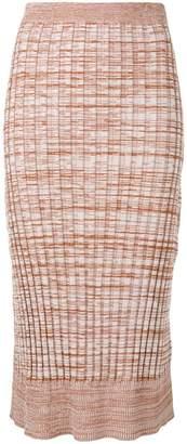 Jil Sander Navy knitted midi skirt
