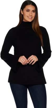 Du Jour Mock Neck Bell Sleeve Sweater Tunic