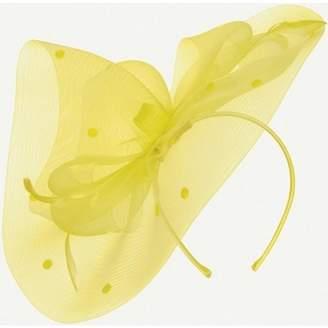 Dorothy Perkins Womens Lemon Spot Bow Fascinator