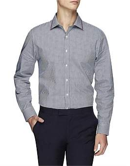 Ben Sherman Ls Mod Stripe Gingham Kings Fit Shirt