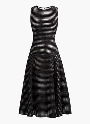St. John Sheer Grid Knit Dress