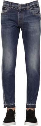 Dolce & Gabbana Denim Jeans W/ Logo Tape & Pig Patch