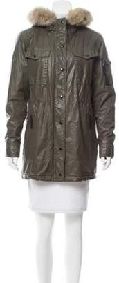 SAM. Fur-Trimmed Short Coat