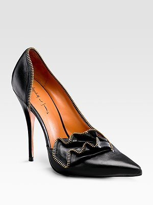 Elizabeth and James Zipper Pumps