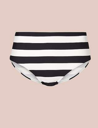 Marks and Spencer Striped High Waisted Swim Bottoms
