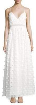 Nicole Miller 3D Floral Gown