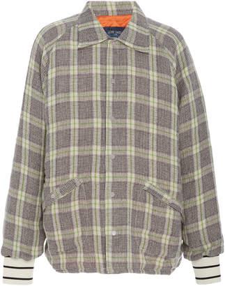 Lost Daze Plaid Linen Jacket