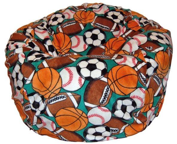 Ahh Products Anti-Pill Sports Fleece Washable Bean Bag Chair