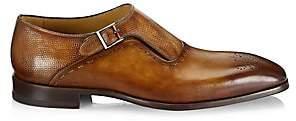 Saks Fifth Avenue Men's COLLECTION Laser-Cut Monk Strap Leather Dress Shoes
