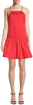 Armani Exchange Women's Flounce Hem Mini Dress