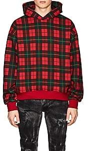 Fear Of God Men's Plaid Cotton Terry Oversized Hoodie - Red