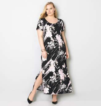 Avenue Floral Brushstroke Maxi Dress