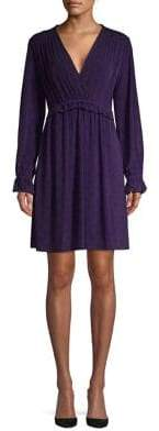 MICHAEL Michael Kors Ruffled Trim Printed Shift Dress