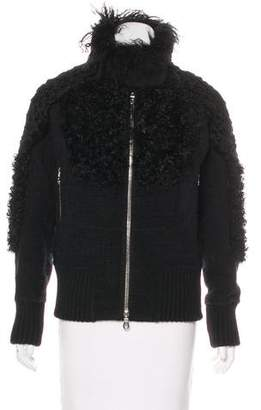 Marc Jacobs Alpaca & Wool-Blend Fur Trimmed Jacket