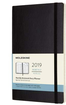 Moleskine 12M MONTHLY LARGE BLACK SOFT COVER
