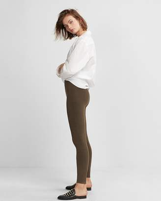 Express High Waisted Moto Sweater Leggings