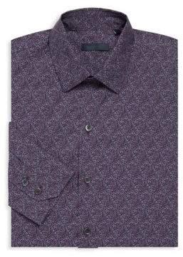 Zachary Prell Machnee Patterned Cotton Sport Shirt