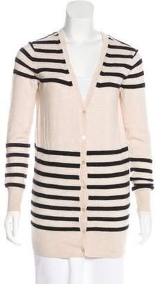 Haute Hippie Merino Wool Striped Cardigan