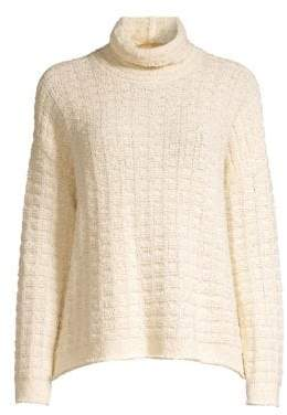 Eileen Fisher Speciality Stitch Waffle Knit Sweater