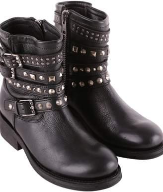 Ash Tatoo Leather Biker Boots