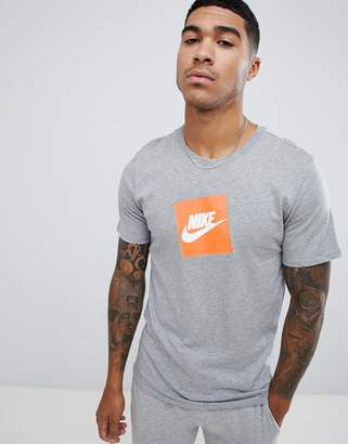 Nike Box Logo T-Shirt In Grey AR1161-063