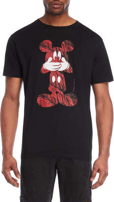 Marcelo Burlon County of Milan Black Mickey Mouse Tee