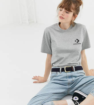 Converse Oversized Star Chevron T-Shirt In Gray