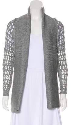 TSE Long Sleeve Open Front Cardigan Grey Long Sleeve Open Front Cardigan