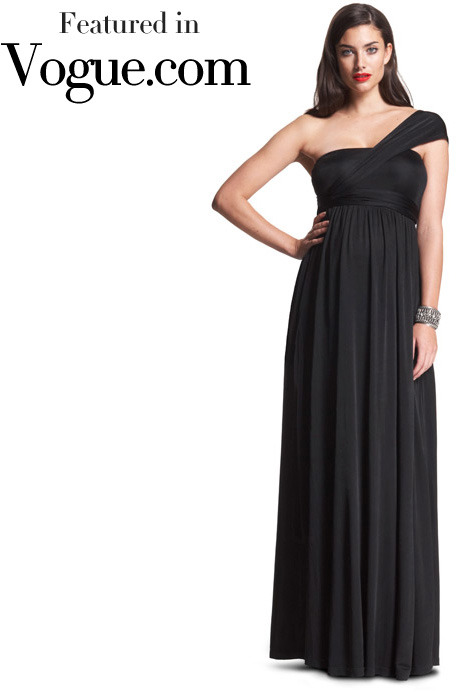 The Wrap Column Maternity Dress