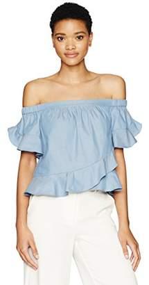 ef744740dd63c BCBGMAXAZRIA Blue Off Shoulder Women s Tops - ShopStyle