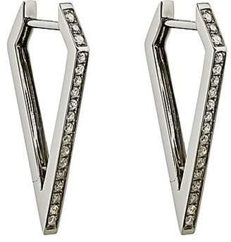 Eva Fehren Women's Dagger Hoop Earrings - White Gold