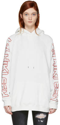 R 13 White Oversized R-Thirteen Hoodie