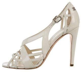 Chanel Multistrap Patent Leather Sandals