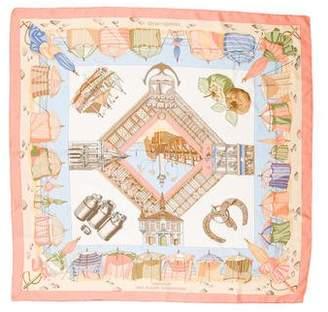 Hermes Charmes Des Plages Normandes Silk Scarf