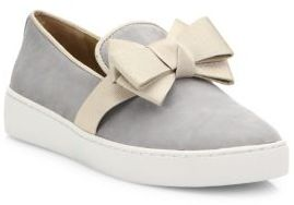 Michael Kors Collection Val Suede Bow Skate Sneakers $275 thestylecure.com