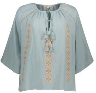 Sale - Muri Cotton and Linen Embroidered Blouse - Women's Colllection - Louise Misha