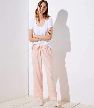 LOFT Polka Dot Pajama Pants