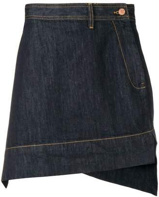 e8424bfcd0 Vivienne Westwood asymmetric denim skirt