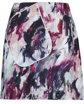 Carven Printed Crepe Mini Skirt