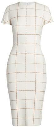 Victoria Beckham Check Sheath Dress
