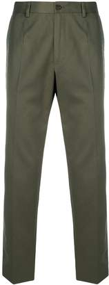 Dolce & Gabbana logo trim slim-fit trousers