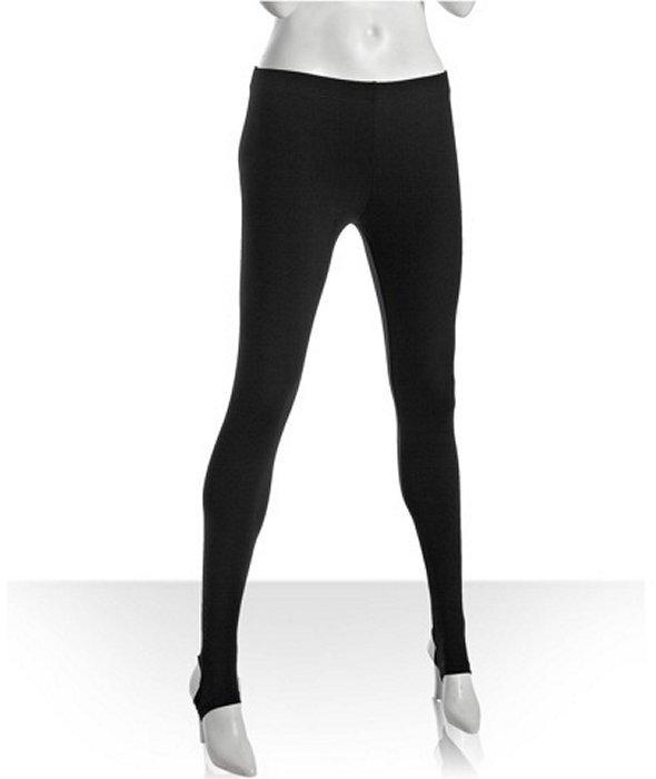 Plan B black stretch stirrup leggings