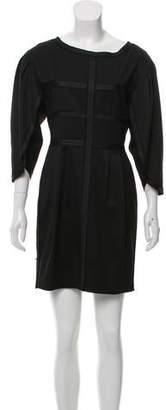 Robert Rodriguez Silk-Trimmed Mini Dress