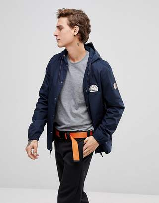Element Murray hooded coach jacket in navy
