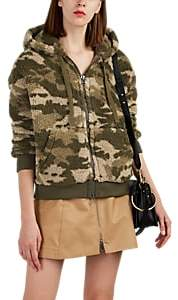 ATM Anthony Thomas Melillo Women's Camouflage Sherpa Hoodie - Green
