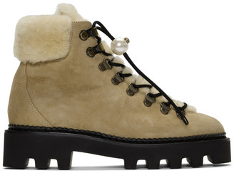 Nicholas Kirkwood Beige Delfi Hiking Boots