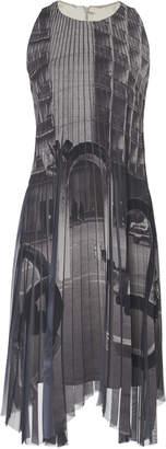 Akris Graphic Printed Crepe Plissé Dress