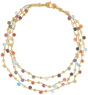 Marco Bicego 18ct yellow gold multi stone necklace