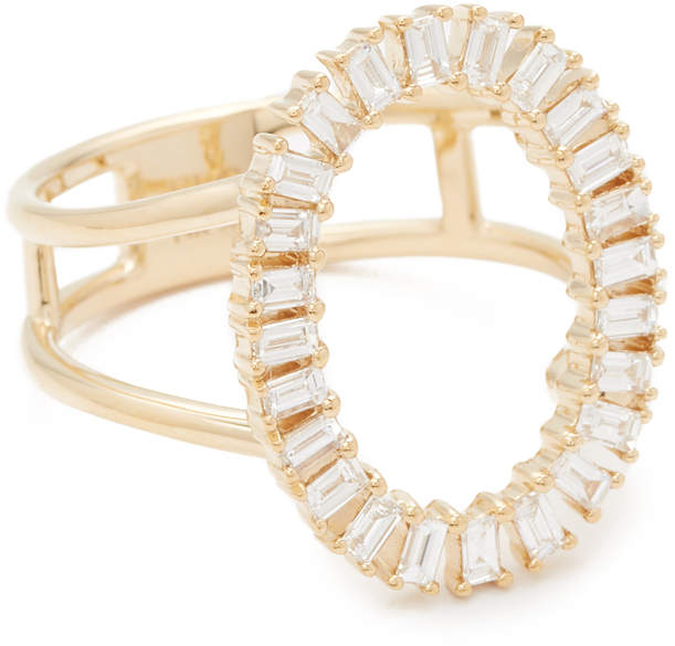 14k Gold Diamond Oval Ring